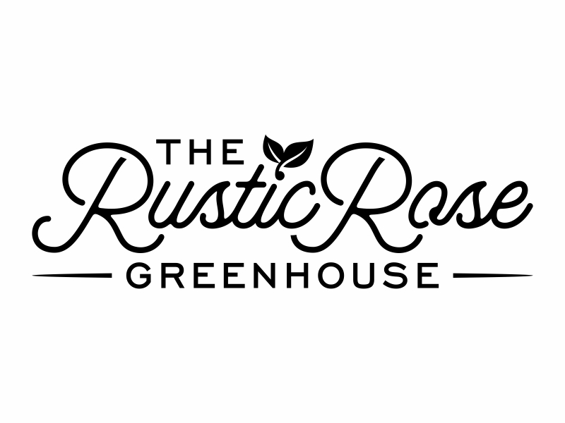 The Rustic Rose Greenhouse logo design by FriZign