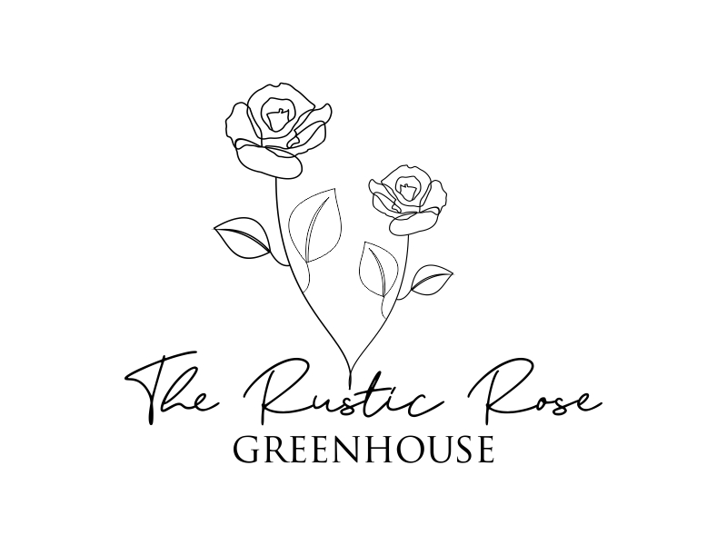 The Rustic Rose Greenhouse logo design by Greenlight
