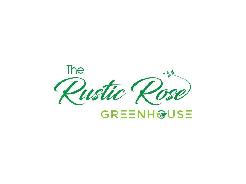 The Rustic Rose Greenhouse logo design by dollarpush