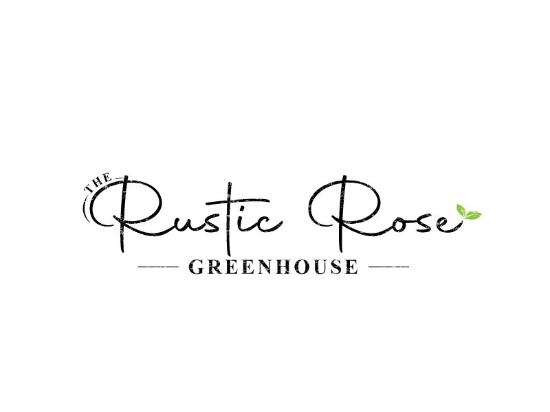 The Rustic Rose Greenhouse logo design by LogoInvent