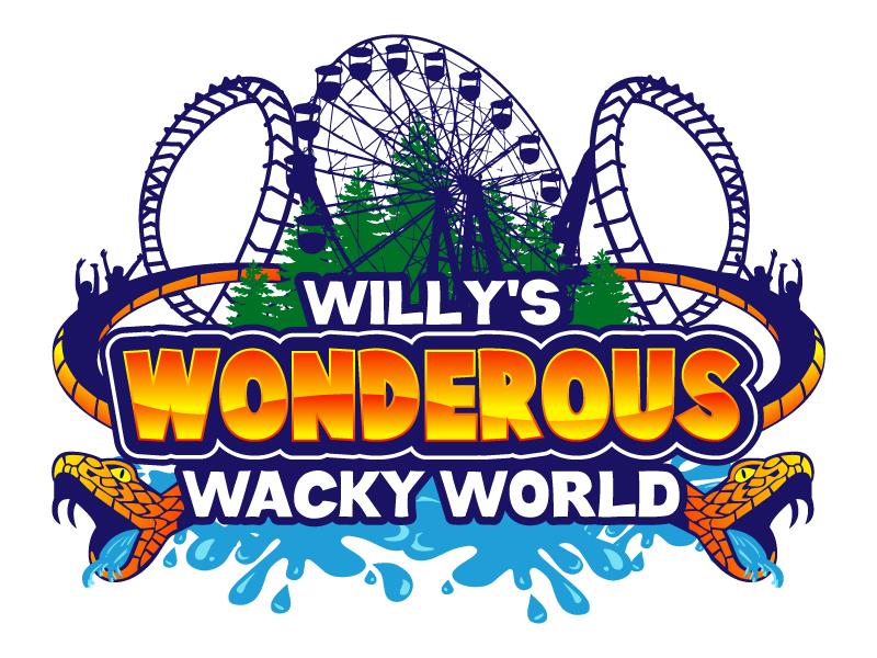Willy's Wonderous Wacky World Logo Design