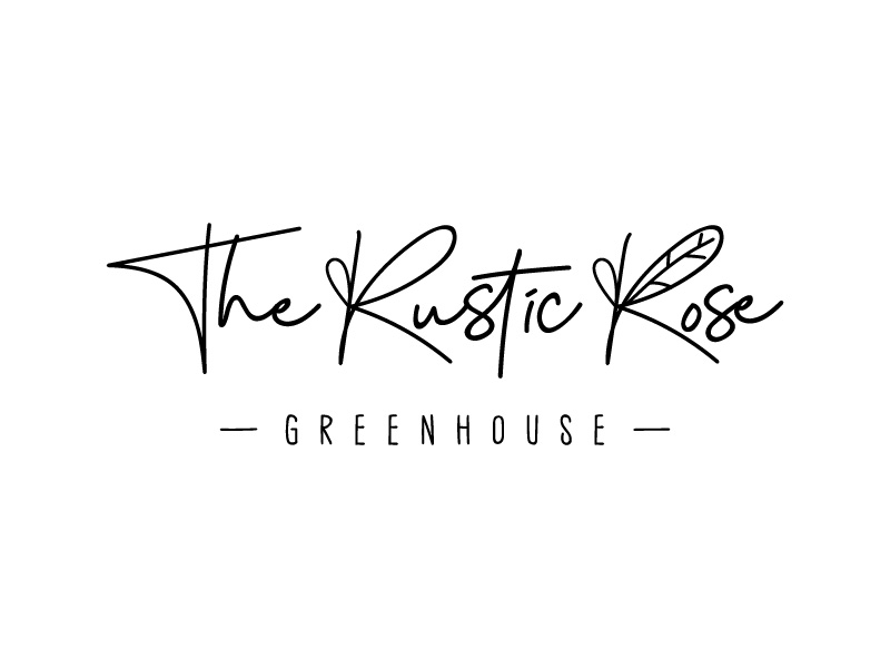 The Rustic Rose Greenhouse logo design by hwkomp