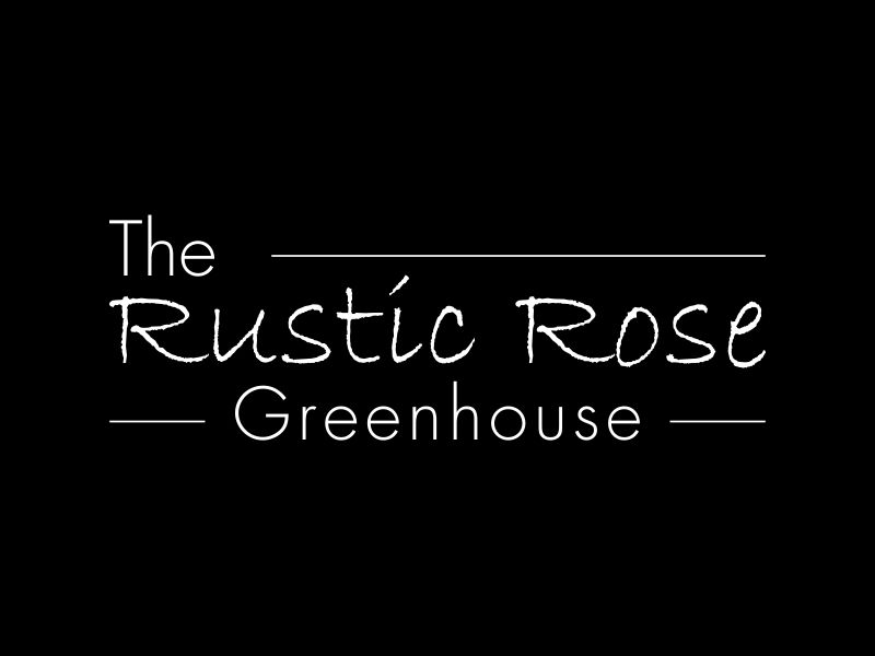 The Rustic Rose Greenhouse logo design by MUNAROH