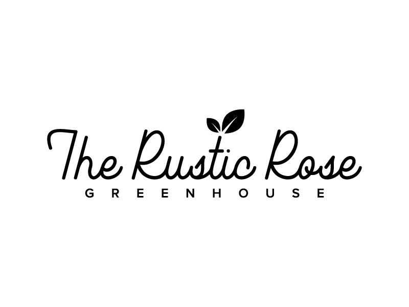 The Rustic Rose Greenhouse logo design by denfransko
