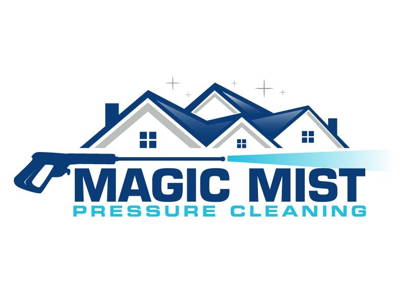 Magic Mist Pressure Cleaning logo design by ElonStark