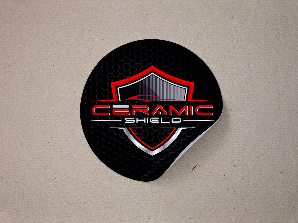 Ceramic Shield logo design by Thuwan Aslam Haris