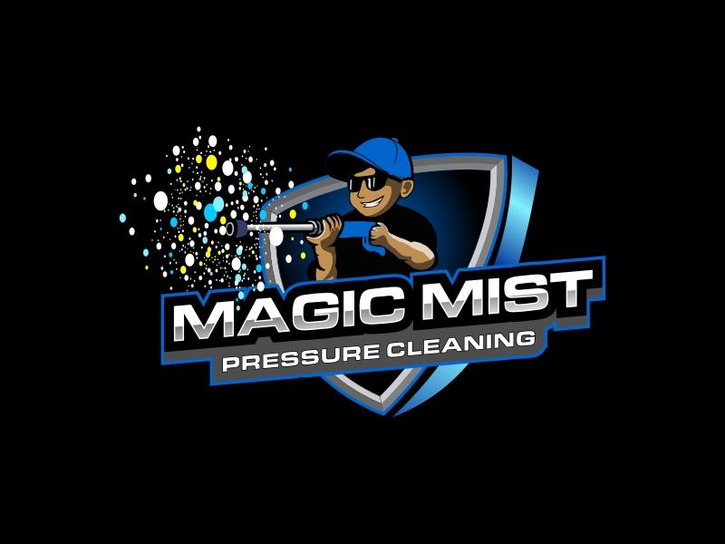 Magic Mist Pressure Cleaning logo design by Republik