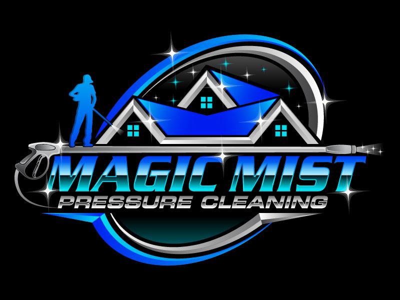 Magic Mist Pressure Cleaning logo design by Suvendu
