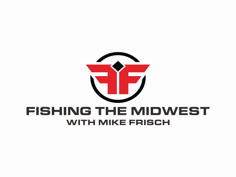 Fishing the Midwest with Mike Frisch logo design by Greenlight