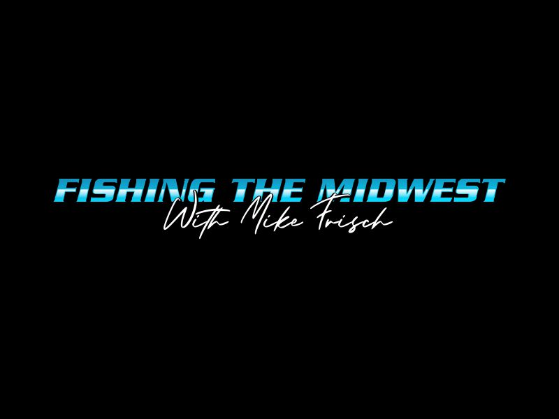 Fishing the Midwest with Mike Frisch logo design by giphone