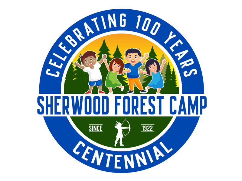 Sherwood Forest Camp Centennial logo design by DreamLogoDesign