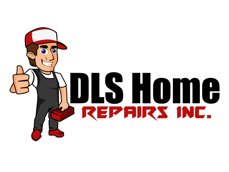 DLS Home Repairs Inc. logo design by ElonStark
