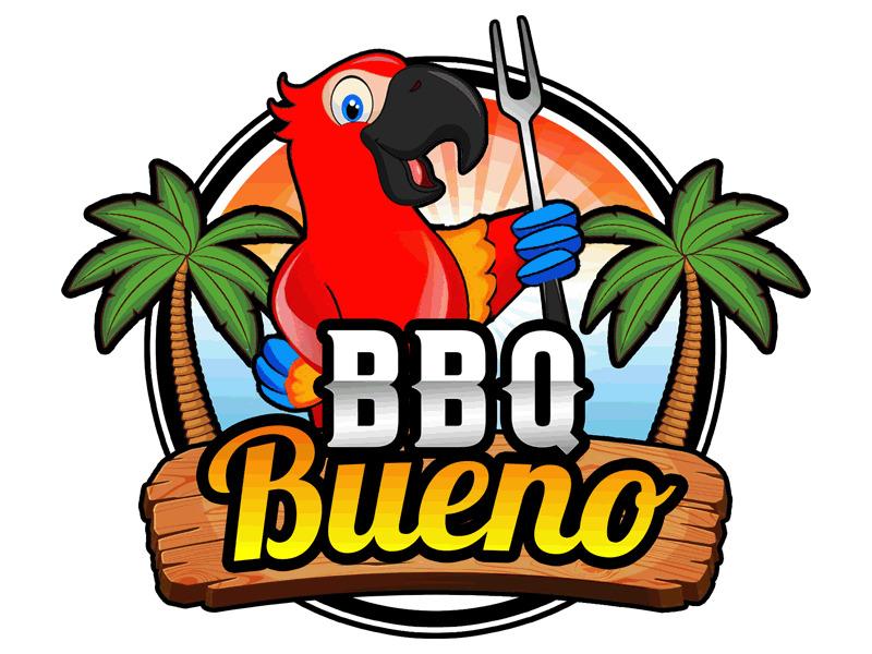 BBQ Bueno logo design by Bananalicious