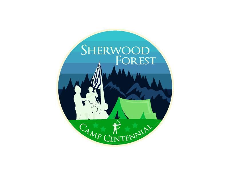 Sherwood Forest Camp Centennial logo design by fawadyk