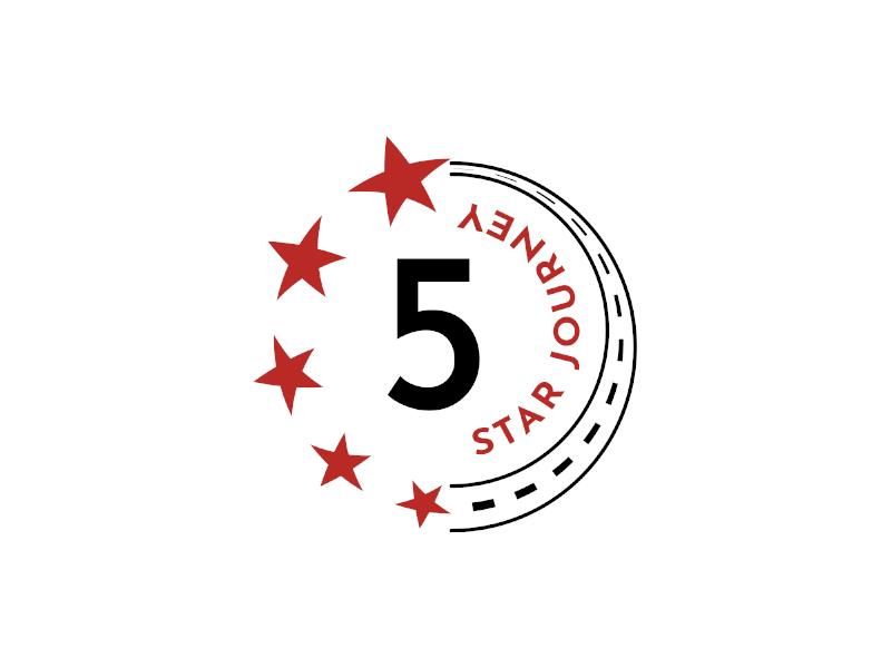 5 Star Journey logo design by planoLOGO