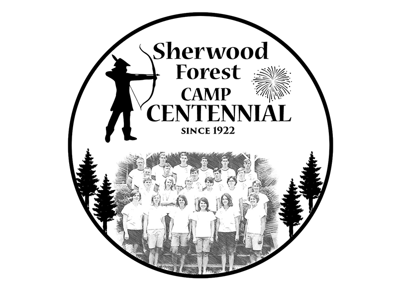 Sherwood Forest Camp Centennial logo design by PrimalGraphics