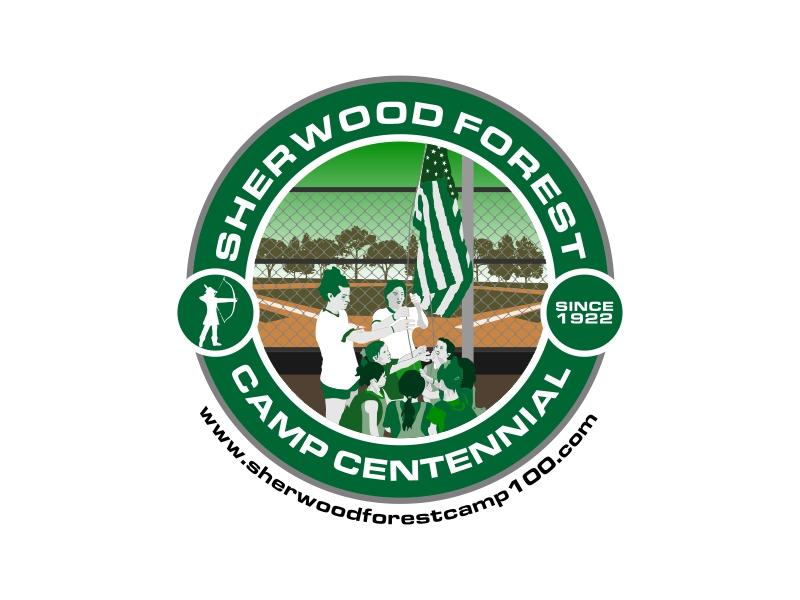 Sherwood Forest Camp Centennial logo design by Republik
