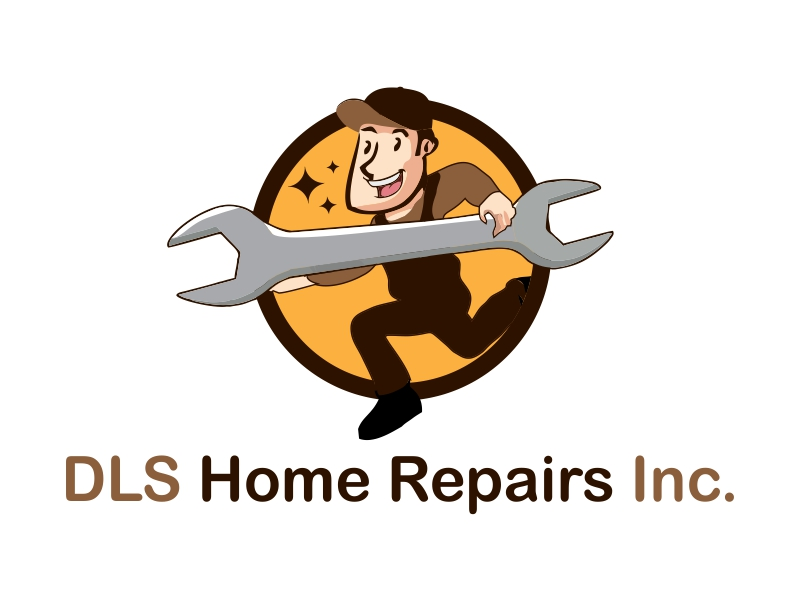DLS Home Repairs Inc. logo design by Republik