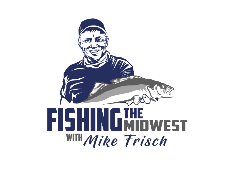 Fishing the Midwest with Mike Frisch logo design by aRBy