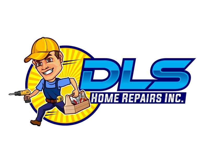 DLS Home Repairs Inc. logo design by DreamLogoDesign