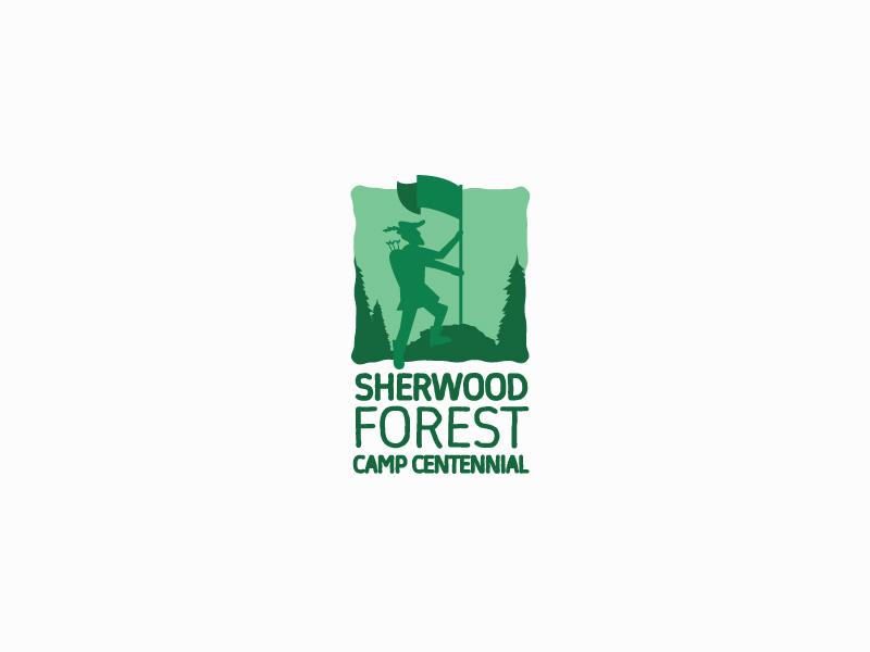 Sherwood Forest Camp Centennial logo design by sigorip