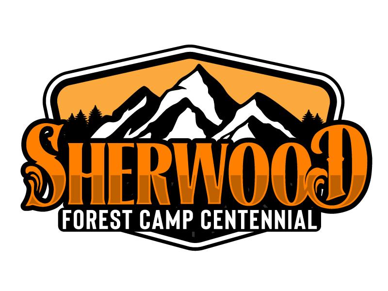 Sherwood Forest Camp Centennial logo design by ElonStark