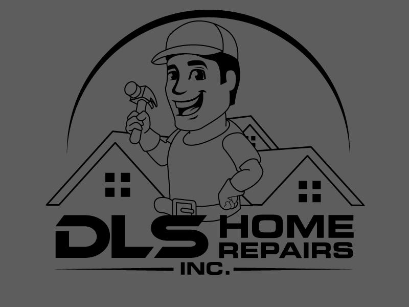 DLS Home Repairs Inc. logo design by Suvendu