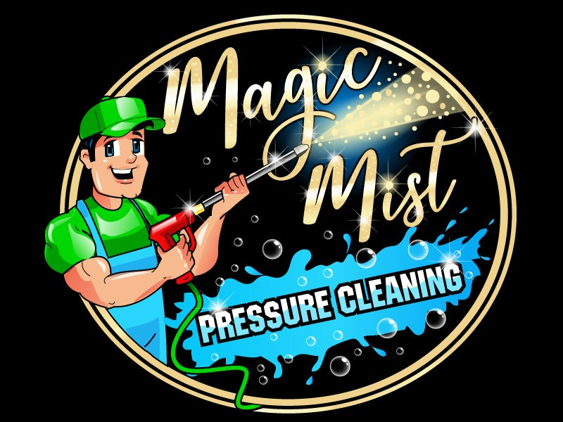 Magic Mist Pressure Cleaning logo design by uttam