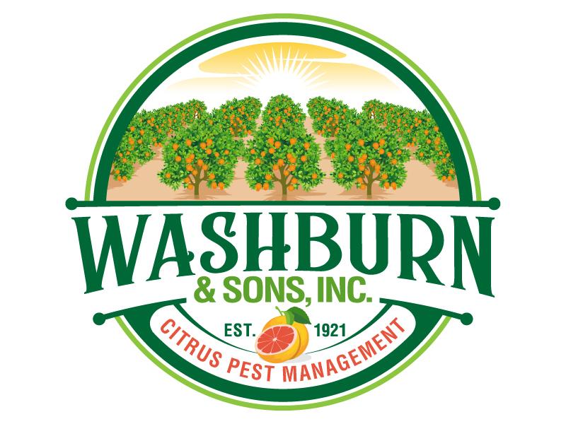 Washburn & Sons, Inc. logo design by jaize