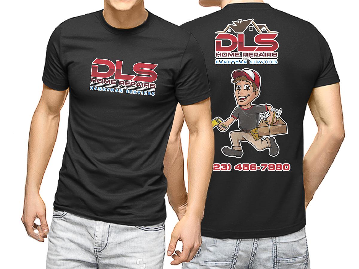 DLS Home Repairs Inc. logo design by scriotx