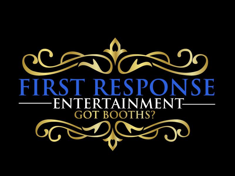 """First Response Entertainment """"Got Booths?"""" logo design by ElonStark"""