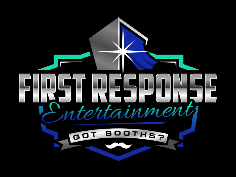 """First Response Entertainment """"Got Booths?"""" logo design by MAXR"""