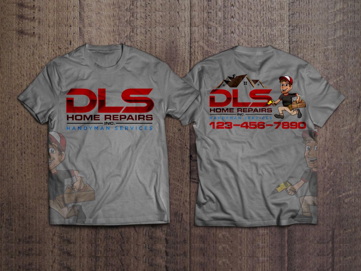 DLS Home Repairs Inc. logo design by Boomstudioz