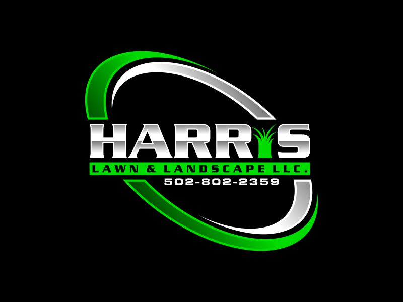HARRIS  LAWN & LANDSCAPE LLC. logo design by ora_creative