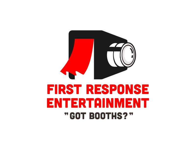 "First Response Entertainment ""Got Booths?"" logo design by veter"