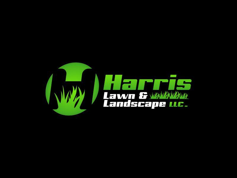 HARRIS  LAWN & LANDSCAPE LLC. logo design by Rhiezone
