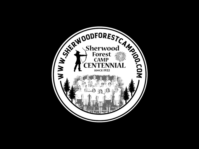 Sherwood Forest Camp Centennial Logo Design