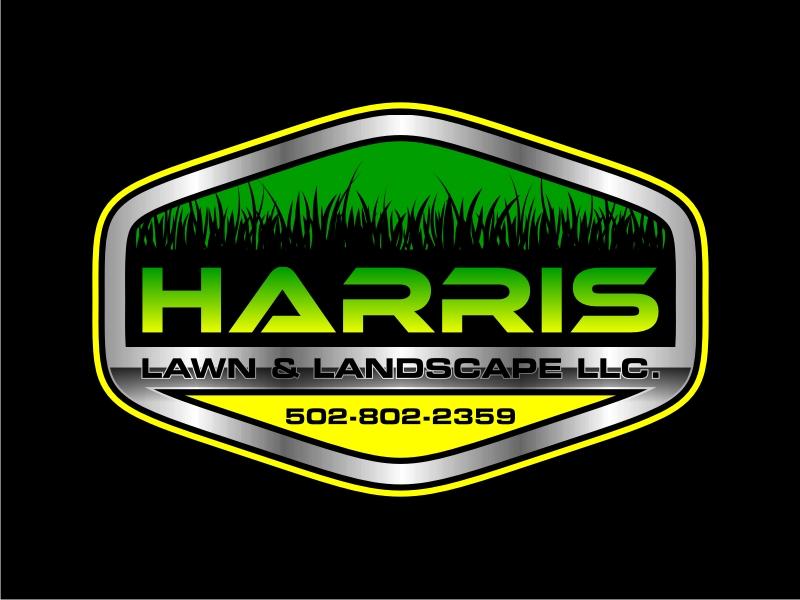HARRIS  LAWN & LANDSCAPE LLC. logo design by GemahRipah