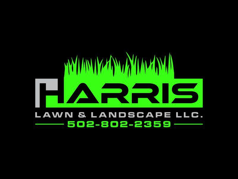 HARRIS  LAWN & LANDSCAPE LLC. logo design by dewipadi