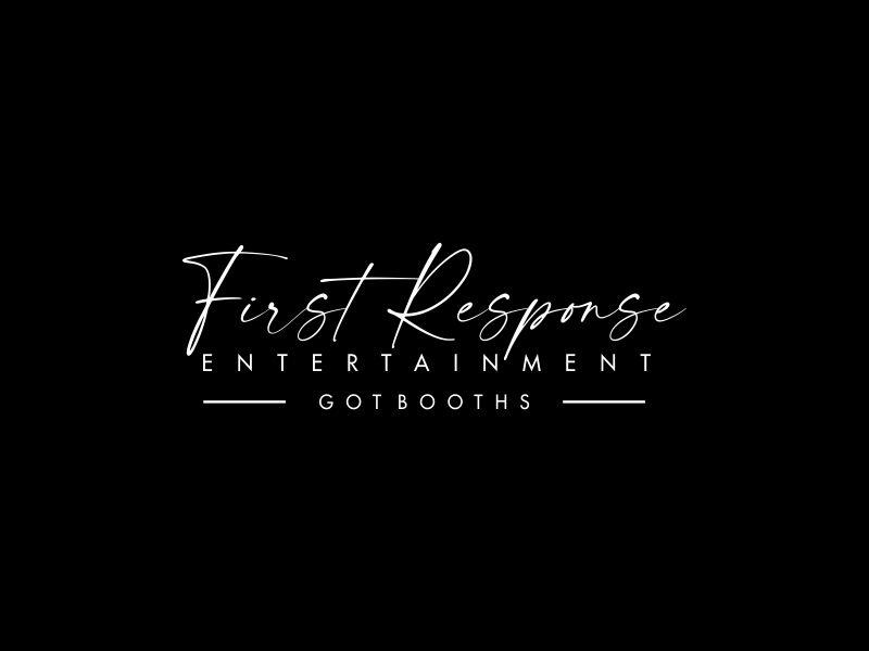 "First Response Entertainment ""Got Booths?"" logo design by oke2angconcept"