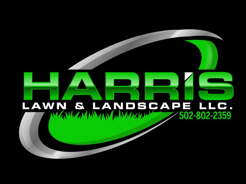 HARRIS  LAWN & LANDSCAPE LLC. logo design by ElonStark
