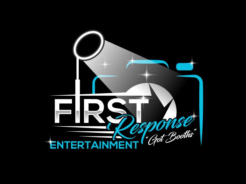 "First Response Entertainment ""Got Booths?"" logo design by Suvendu"