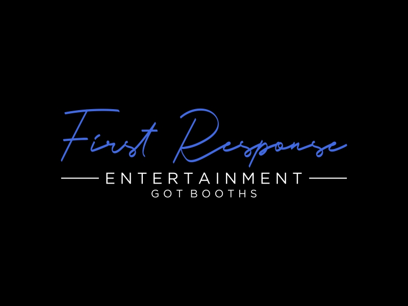 """First Response Entertainment """"Got Booths?"""" logo design by puthreeone"""