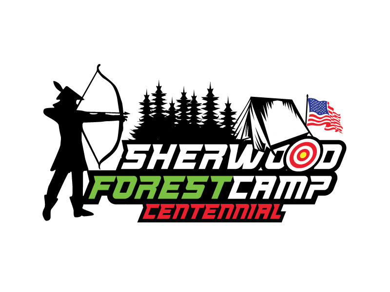 Sherwood Forest Camp Centennial logo design by REDCROW