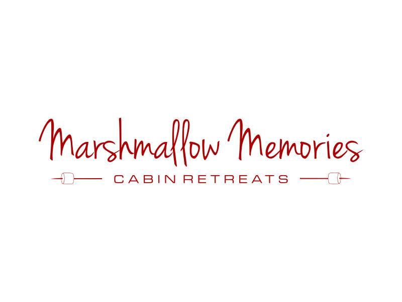 Marshmallow Memories Cabin Retreats Logo Design