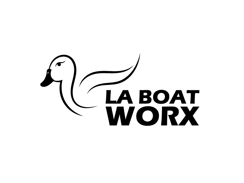 LA BOAT WORX logo design by my!dea