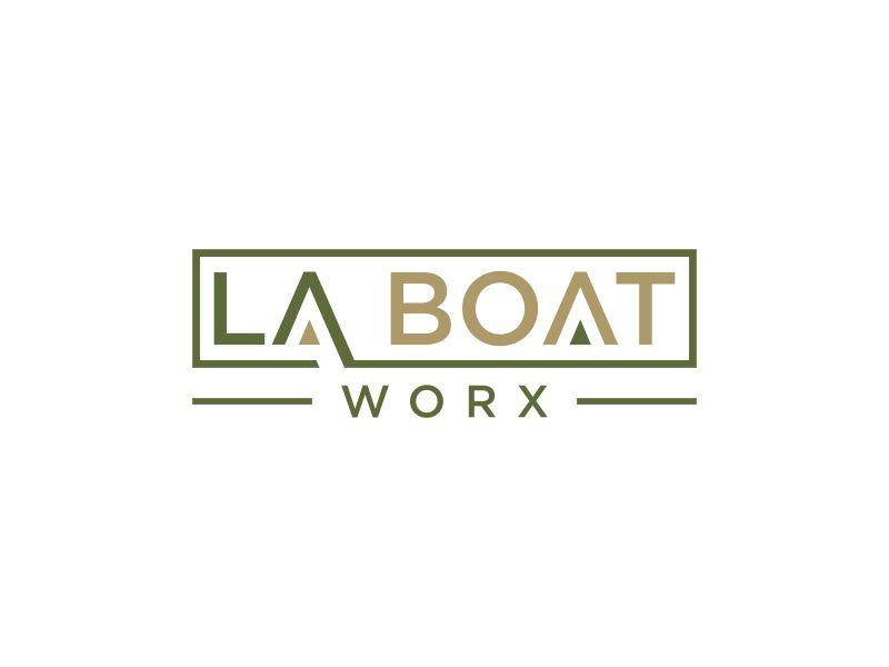 LA BOAT WORX logo design by haidar