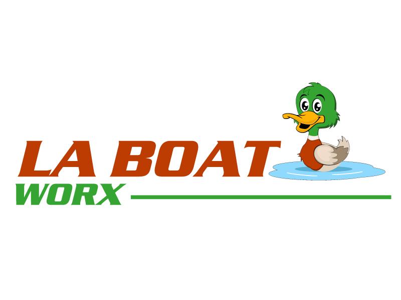 LA BOAT WORX logo design by ElonStark