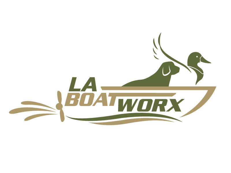 LA BOAT WORX logo design by jaize
