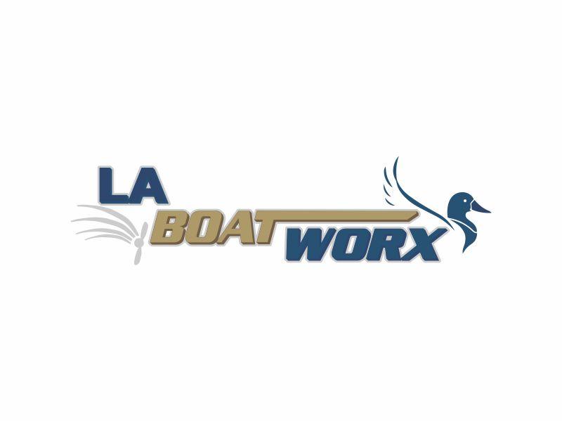 LA BOAT WORX logo design by andayani*